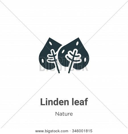 Linden leaf icon isolated on white background from nature collection. Linden leaf icon trendy and mo