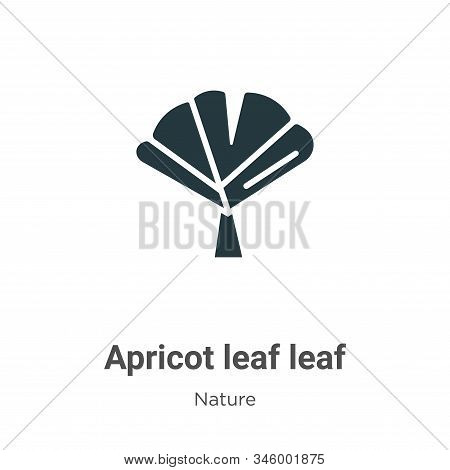 Apricot leaf leaf icon isolated on white background from nature collection. Apricot leaf leaf icon t