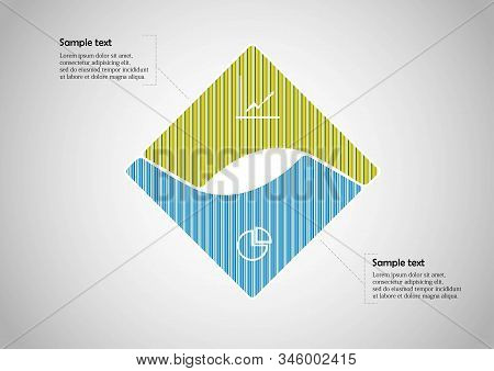 Square Infographic Vector Template Consists Of Two Parts