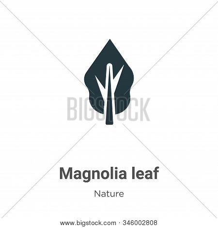 Magnolia leaf icon isolated on white background from nature collection. Magnolia leaf icon trendy an