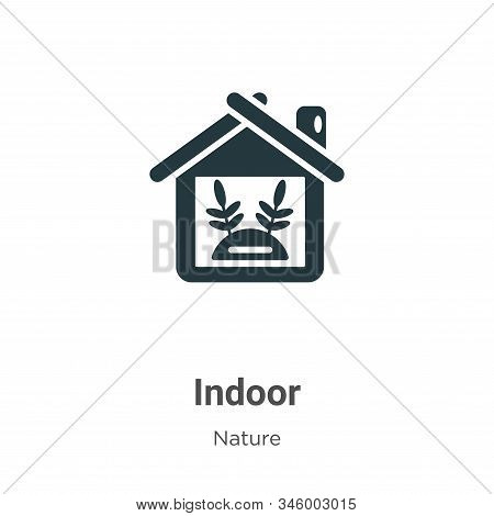 Indoor icon isolated on white background from nature collection. Indoor icon trendy and modern Indoo