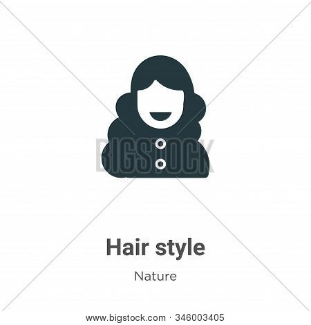 Hair style icon isolated on white background from nature collection. Hair style icon trendy and mode