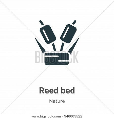 Reed bed icon isolated on white background from nature collection. Reed bed icon trendy and modern R