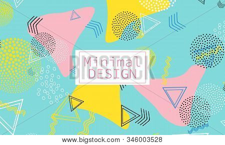 Memphis. 90s Pattern. Geometric Shapes Background. Vector Illustration. Hipster Style 80s-90s. Abstr