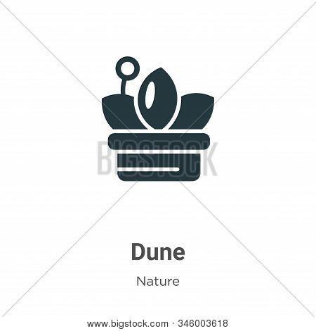 Dune icon isolated on white background from nature collection. Dune icon trendy and modern Dune symb