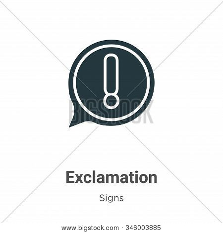 Exclamation icon isolated on white background from signs collection. Exclamation icon trendy and mod