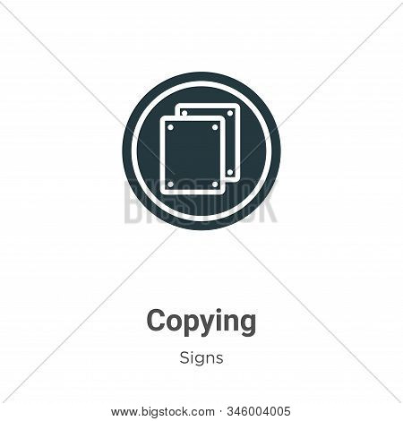 Copying icon isolated on white background from signs collection. Copying icon trendy and modern Copy