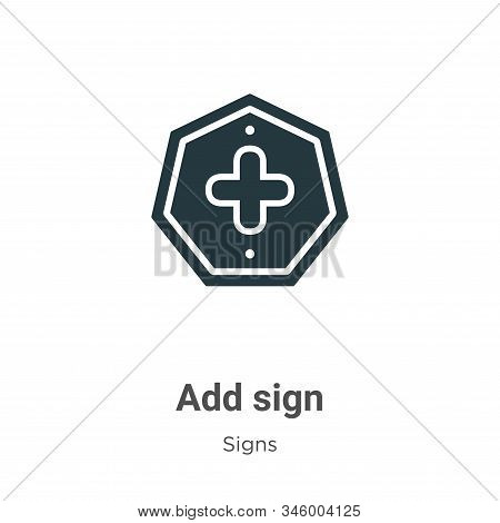 Add sign icon isolated on white background from signs collection. Add sign icon trendy and modern Ad