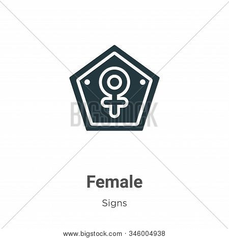 Female symbol icon isolated on white background from signs collection. Female symbol icon trendy and