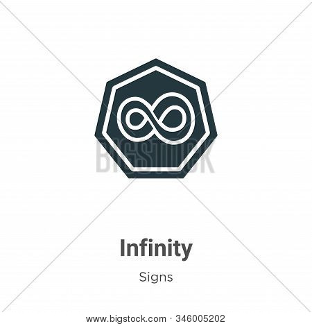 Infinity icon isolated on white background from signs collection. Infinity icon trendy and modern In
