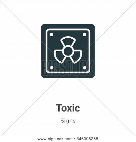 Toxic Symbol Vector Icon On White Background. Flat Vector Toxic Symbol Icon Symbol Sign From Modern