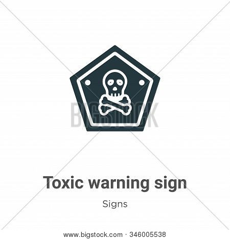 Toxic warning sign icon isolated on white background from signs collection. Toxic warning sign icon