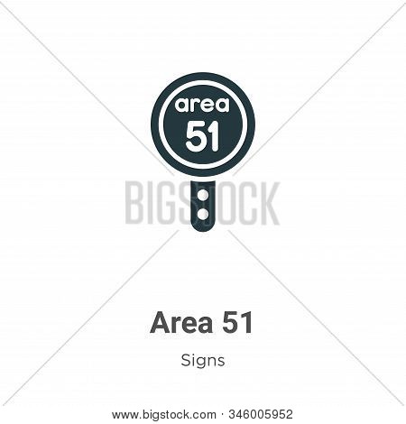 Area 51 icon isolated on white background from signs collection. Area 51 icon trendy and modern Area