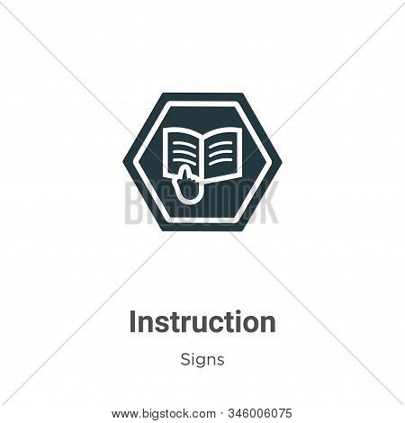 Instruction icon isolated on white background from signs collection. Instruction icon trendy and mod