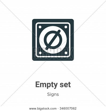 Empty set icon isolated on white background from signs collection. Empty set icon trendy and modern
