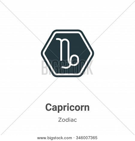Capricorn icon isolated on white background from zodiac collection. Capricorn icon trendy and modern