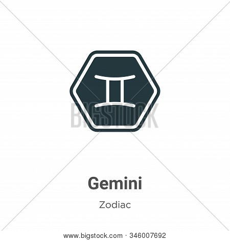 Gemini icon isolated on white background from zodiac collection. Gemini icon trendy and modern Gemin
