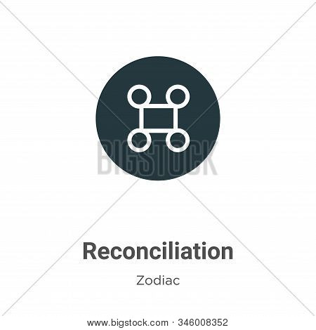 Reconciliation icon isolated on white background from zodiac collection. Reconciliation icon trendy