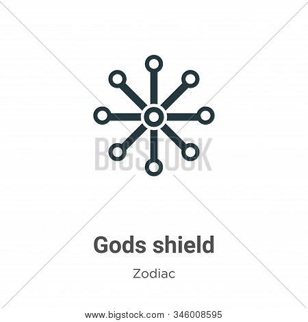 Gods shield icon isolated on white background from zodiac collection. Gods shield icon trendy and mo