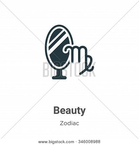 Beauty icon isolated on white background from zodiac collection. Beauty icon trendy and modern Beaut