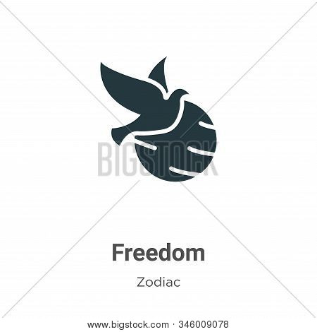 Freedom icon isolated on white background from zodiac collection. Freedom icon trendy and modern Fre