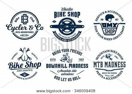 Vector Bike Shop, Bicycle Service, Mountain Biking Logo