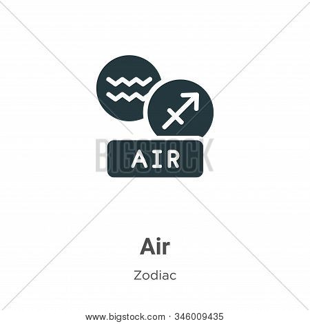 Air icon isolated on white background from zodiac collection. Air icon trendy and modern Air symbol
