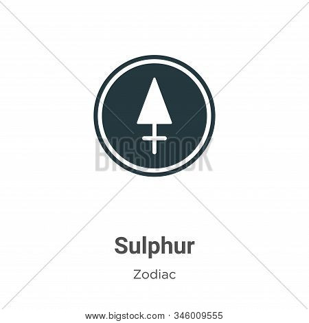 Sulphur Vector Icon On White Background. Flat Vector Sulphur Icon Symbol Sign From Modern Zodiac Col