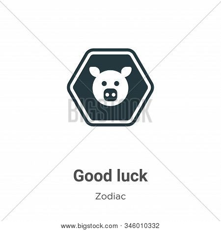 Good luck icon isolated on white background from zodiac collection. Good luck icon trendy and modern