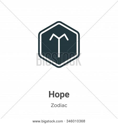 Hope Vector Icon On White Background. Flat Vector Hope Icon Symbol Sign From Modern Zodiac Collectio