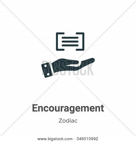 Encouragement icon isolated on white background from zodiac collection. Encouragement icon trendy an