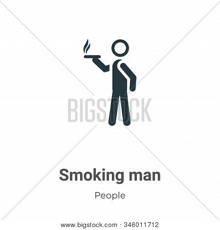 Smoking man icon isolated on white background from people collection. Smoking man icon trendy and mo