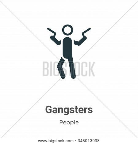 Gangsters icon isolated on white background from people collection. Gangsters icon trendy and modern