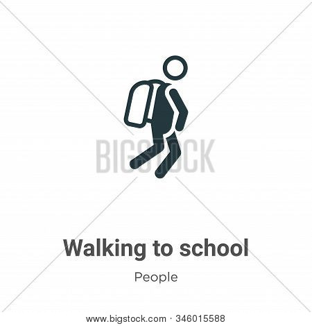 Walking to school icon isolated on white background from people collection. Walking to school icon t