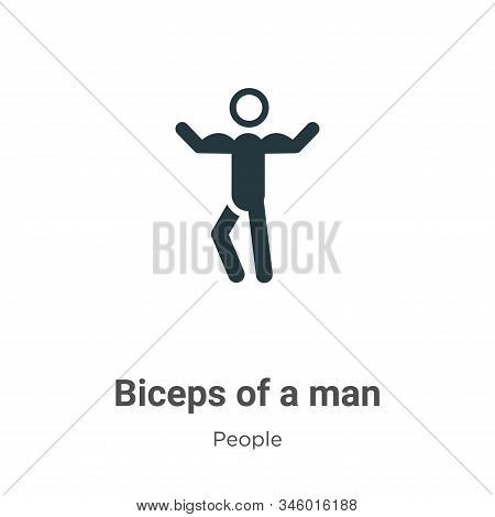 Biceps of a man icon isolated on white background from people collection. Biceps of a man icon trend