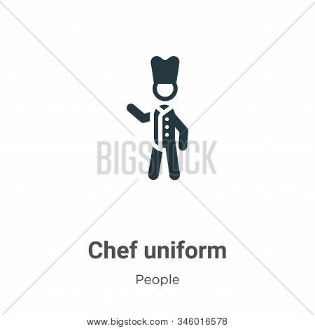 Chef uniform icon isolated on white background from people collection. Chef uniform icon trendy and