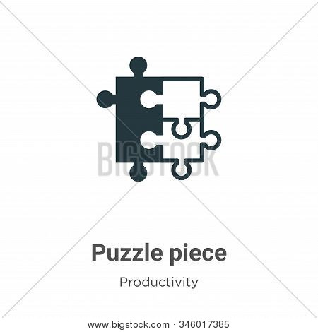 Puzzle piece icon isolated on white background from productivity collection. Puzzle piece icon trend