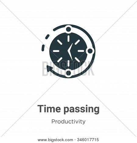 Time passing icon isolated on white background from productivity collection. Time passing icon trend
