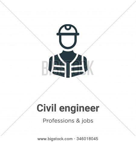 Civil engineer icon isolated on white background from professions collection. Civil engineer icon tr