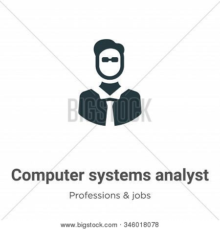 Computer Systems Analyst Vector Icon On White Background. Flat Vector Computer Systems Analyst Icon