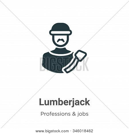 Lumberjack icon isolated on white background from professions collection. Lumberjack icon trendy and