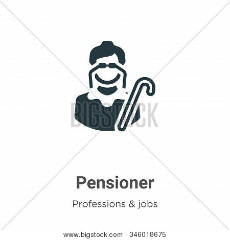 Pensioner icon isolated on white background from professions collection. Pensioner icon trendy and m