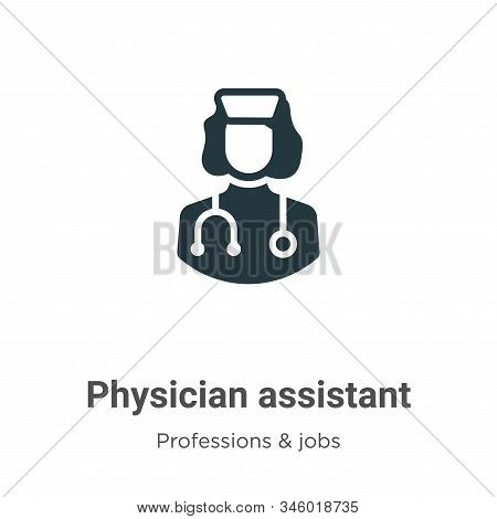 Physician Assistant Vector Icon On White Background. Flat Vector Physician Assistant Icon Symbol Sig