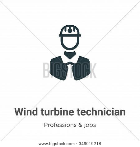 Wind turbine technician icon isolated on white background from professions collection. Wind turbine