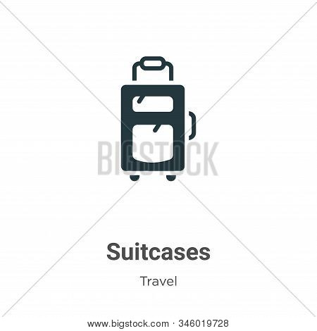 Suitcases icon isolated on white background from travel collection. Suitcases icon trendy and modern