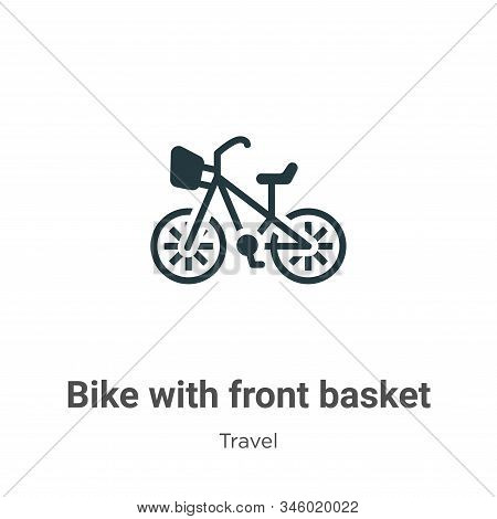 Bike with front basket icon isolated on white background from travel collection. Bike with front bas