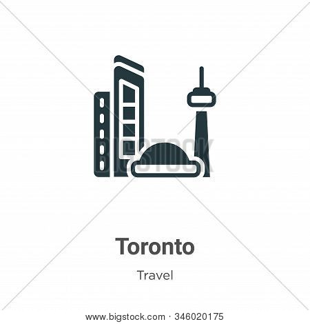 Toronto icon isolated on white background from travel collection. Toronto icon trendy and modern Tor