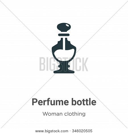 Perfume bottle icon isolated on white background from woman clothing collection. Perfume bottle icon