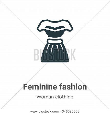 Feminine fashion icon isolated on white background from woman clothing collection. Feminine fashion