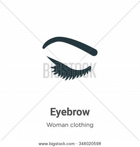 Eyebrow icon isolated on white background from woman clothing collection. Eyebrow icon trendy and mo